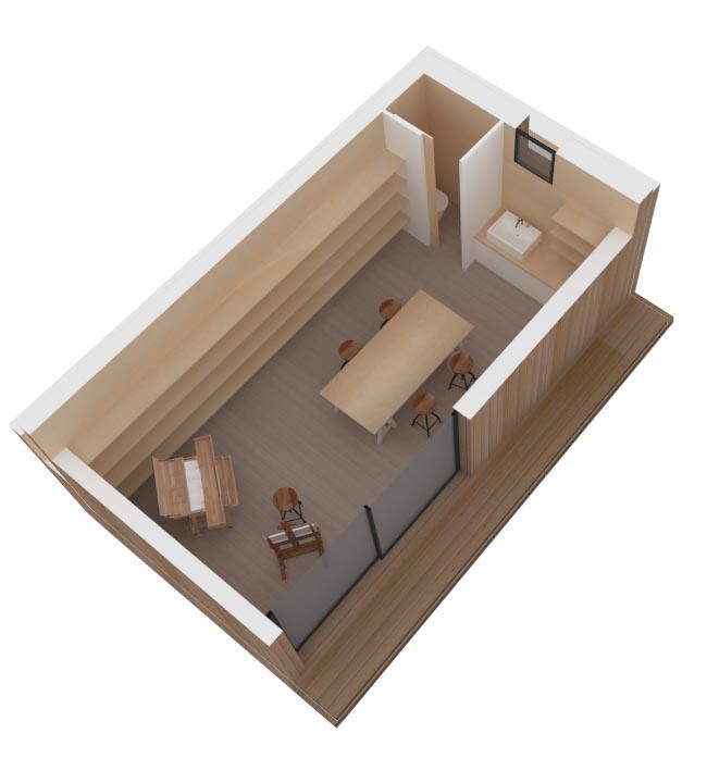 Atelier de peinture ou salle de musique dans un studio au - Bungalow de jardin design ...