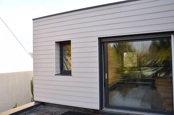 extension bois bardage james hardie