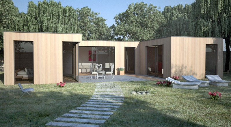 Maison En Bois Bioclimatique Contemporaine De Qualit