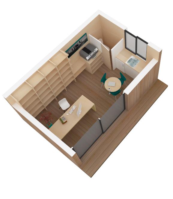 cabane de jardin bien isol e. Black Bedroom Furniture Sets. Home Design Ideas