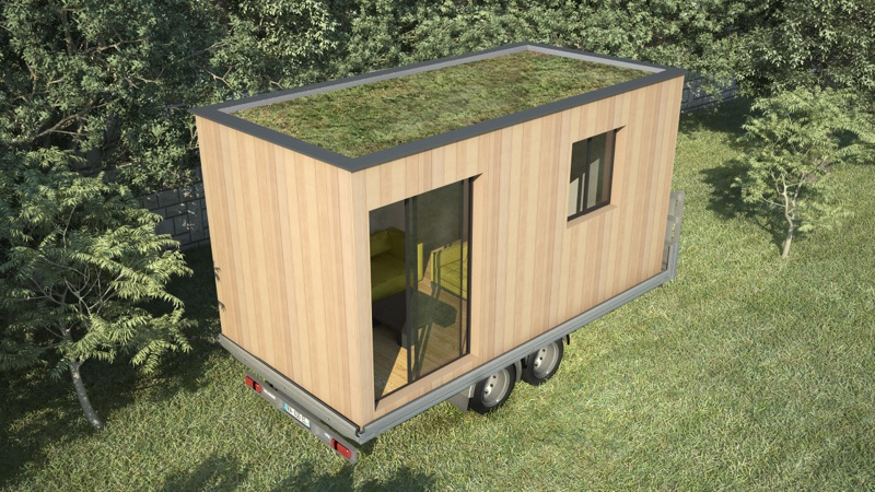 tiny house contemporaine studio de jardin mobile. Black Bedroom Furniture Sets. Home Design Ideas