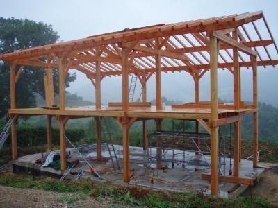 Construction de maisons bois paris for Maison poteaux poutres