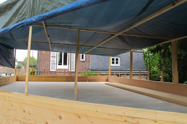 Extension en bois protection