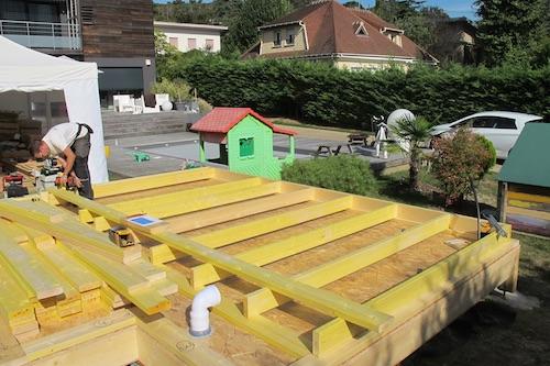 agrandissement maison en ossature bois construction murs. Black Bedroom Furniture Sets. Home Design Ideas