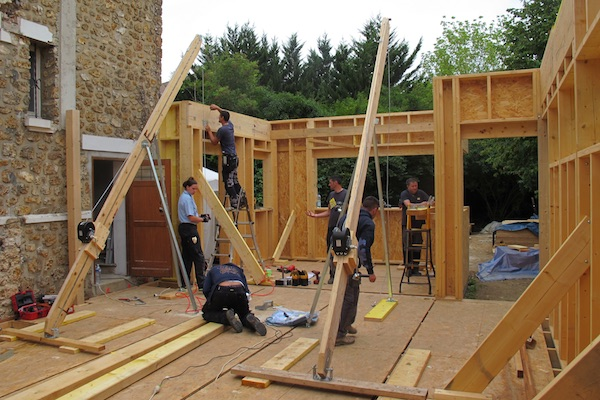 Extension en bois grue