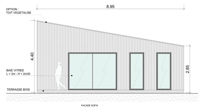 Construction de module en bois yvelines - Studio plan met mezzanine ...