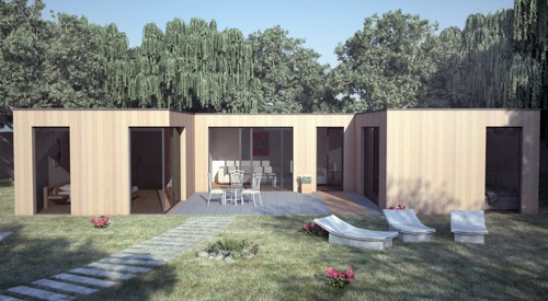 Maison en Bois Bioclimatique contemporaine - Venise - 80 m2