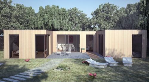 Maison en Bois Bioclimatique contemporaine de qualité