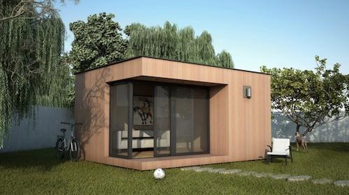 bureau de jardin à toit plat