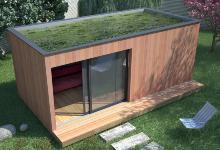 Maisons en bois et studios de jardin extensions en bois for Bureau de jardin en bois