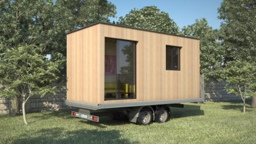 Tiny House contemporaine, mobile sur remorque