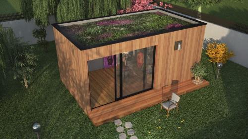 Studio ou bureau de jardin wohnwagen