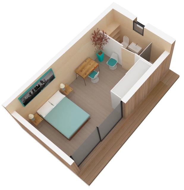 cr er une chambre d 39 amis dans une cabane en bois. Black Bedroom Furniture Sets. Home Design Ideas
