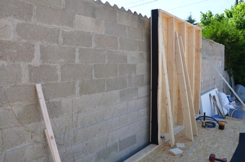 Extension en bois construction des murs en bois # Fabrication Mur Ossature Bois