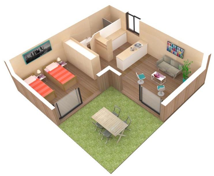 agrandir sa maison avec une construction extension en bois. Black Bedroom Furniture Sets. Home Design Ideas