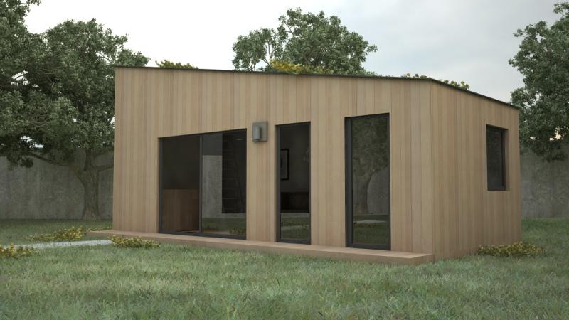 Construction de module en bois yvelines for Module extension bois