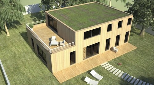 Maison en Bois Bioclimatique contemporaine - Oslo - 180 m2