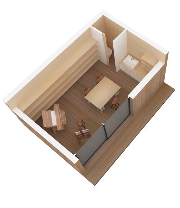 Maison en bois en kit for Autoconstruction container