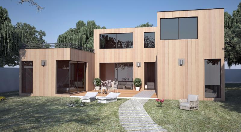 Maison contemporaine 130m2 cq92 jornalagora for Construction bois yvelines