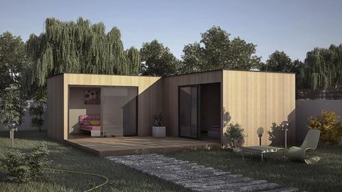 Agrandir sa maison avec une construction extension en bois - Construction studio dans jardin ...